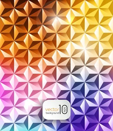 shiny background: Abstract geometric polygonal shiny background Illustration