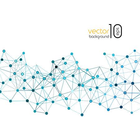 abstract vector: Molecuul en Communicatie Achtergrond. Abstract Vector Illustratie Stock Illustratie
