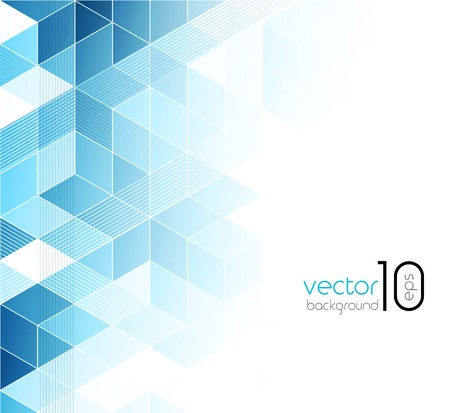 Abstracte blauwe blokjes achtergrond. Stock Illustratie