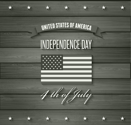 American Independence Day  Patriotic background. Vector Flat design Vector