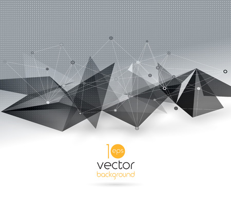 business name: Vector color abstract geometric banner with triangle