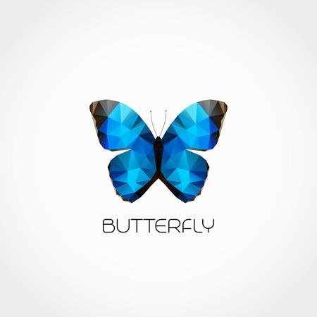 morpho: Abstract butterfly symbol modern trendy design Illustration