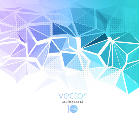 color abstract geometric banner with triangle  Vector