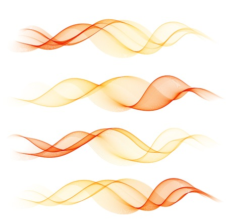 illustration Abstract colorful transparent wave   Illustration