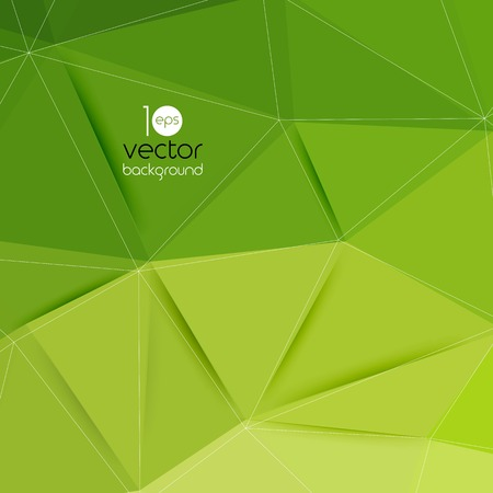 headliner: Vector abstract geometric green background with triangle