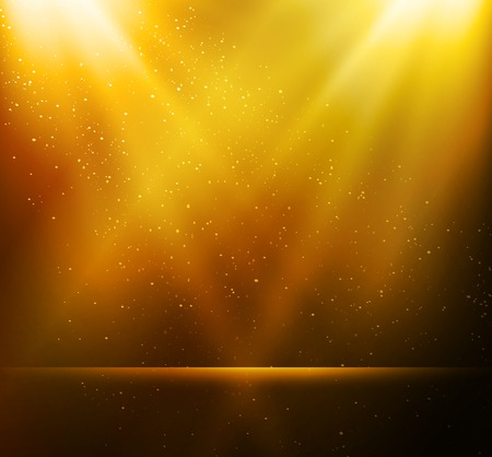 Vector  illustration Abstract magic gold light background