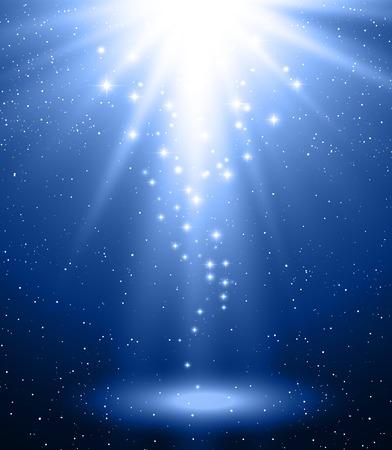 Vector illustratie Abstracte magische blauwe lichte achtergrond