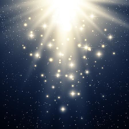 estrella: Ilustraci�n vectorial Resumen magia de fondo azul claro