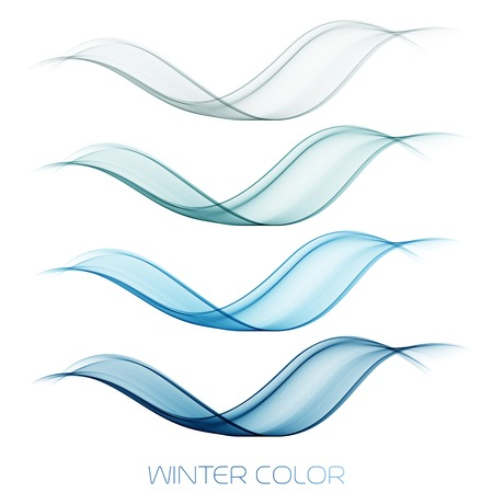 wave vector: Vector illustration Abstract colorful transparent wave.