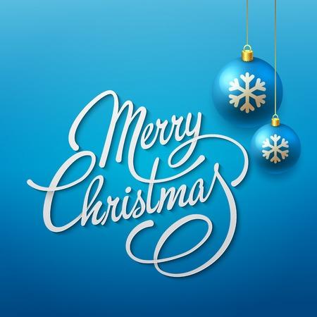 script font: Merry Christmas Lettering Design. Vector illustration. EPS 10 Illustration