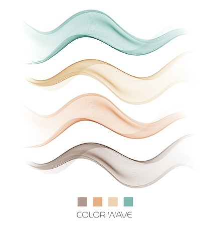 Vector illustration Abstract colorful transparent wave.
