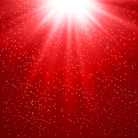 Vector  illustration Abstract magic red light background Vector