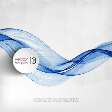 Vector illustratie Abstracte kleurrijke transparante golf. EPS 10 Stock Illustratie