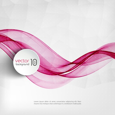 Vector illustration Abstract colorful transparent wave. EPS 10 일러스트