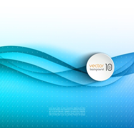 light blue: Vector illustration Abstract colorful transparent wave. EPS 10 Illustration