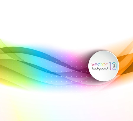 colorful frame: Vector illustration Abstract colorful transparent wave. EPS 10 Illustration