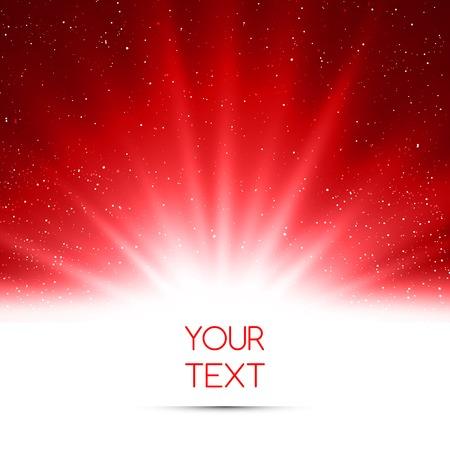 図抽象的な魔法赤光のベクトルの背景