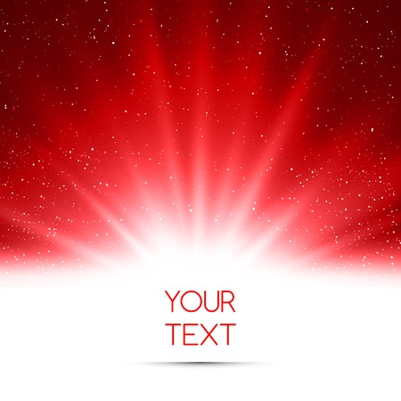 vector magic: Vector  illustration Abstract magic red light background