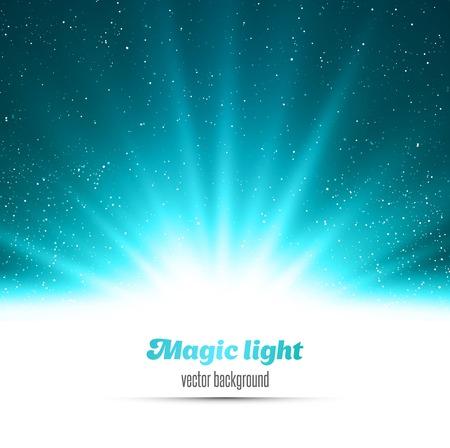 ベクトル図抽象魔法青い光の背景
