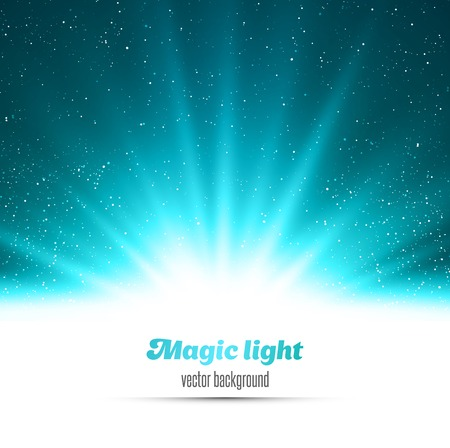 Vector  illustration Abstract magic blue light background Vector