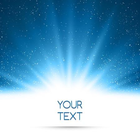 navidad estrellas: Resumen ilustraci�n vectorial m�gica luz de fondo azul