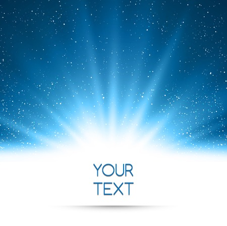 light rays: Vector  illustration Abstract magic blue light background