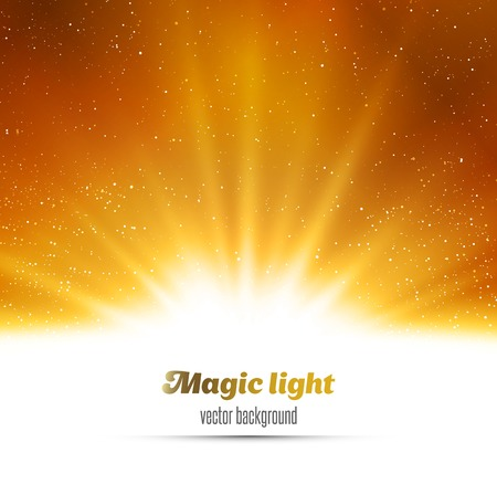 gold yellow: Vector  illustration Abstract magic gold light background