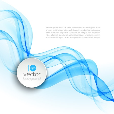 Vector illustration Abstract colorful transparent wave.  Illustration