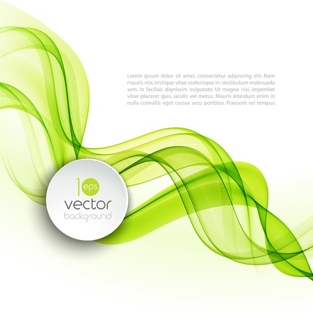 green smoke: Vector illustration Abstract colorful transparent wave. EPS 10 Illustration