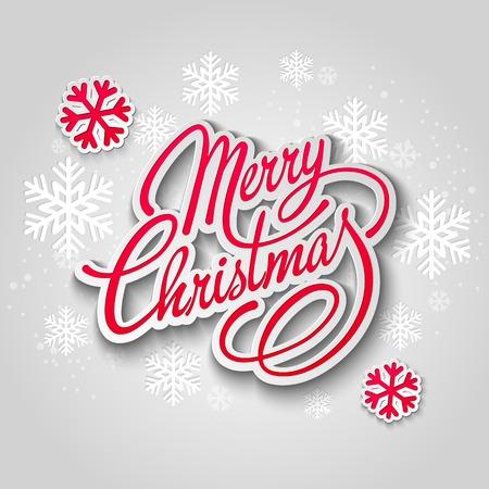 muerdago navideÃ?  Ã? Ã?±o: Tarjeta de felicitación de la Feliz árbol de Navidad. Diseño de papel. Ilustración del vector. Vectores