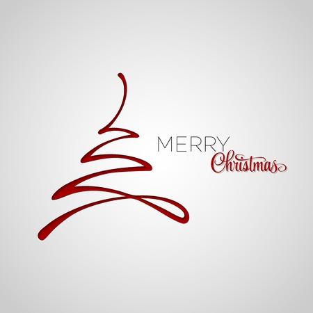 fond de texte: Joyeux arbre carte de voeux de Noël. la conception de papier. Vector illustration. Illustration