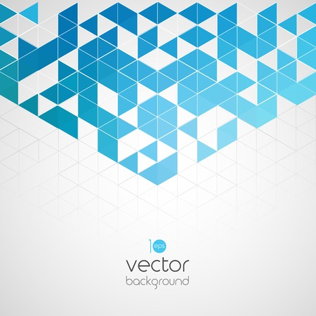 Abstract technology background with color triangle.  Ilustrace