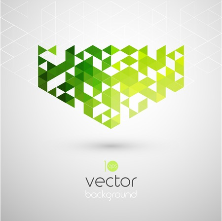 backdrop design: Abstract technology background with color triangle. Vector illustration.