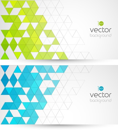 色三角形と技術背景を抽象化します。ベクトルの図。