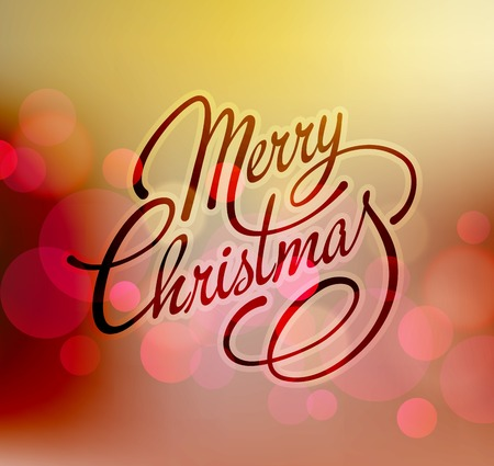 christmas scroll: Merry Christmas Lettering Design. Vector illustration. EPS 10 Illustration