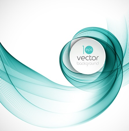 Vector illustration Abstract colorful transparent wave. EPS 10 Vectores