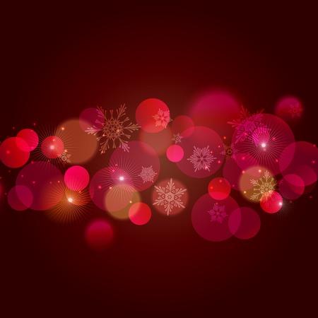 semaforo rosso: Illustrazione vettoriale Natale rosso sfondo chiaro