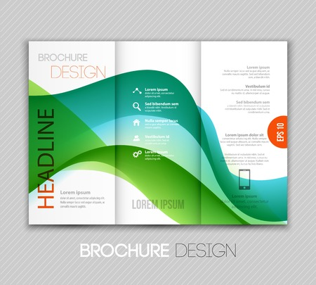 advertising template: Vector illustration Abstract colorful transparent wave. EPS 10 Illustration