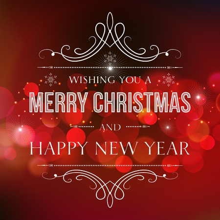 greetings from: Vector  illustration Abstract Christmas red light background