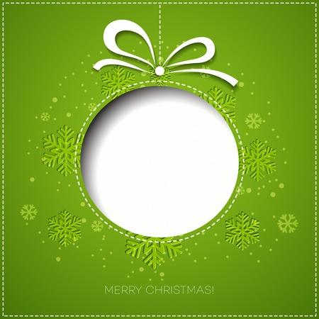 christmas tree decorations: Merry Christmas tree greeting card. Paper design. Vector illustration. EPS 10 Illustration
