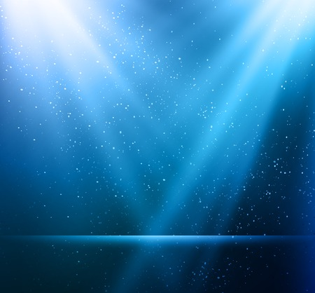 Vector  illustration Abstract magic blue light background