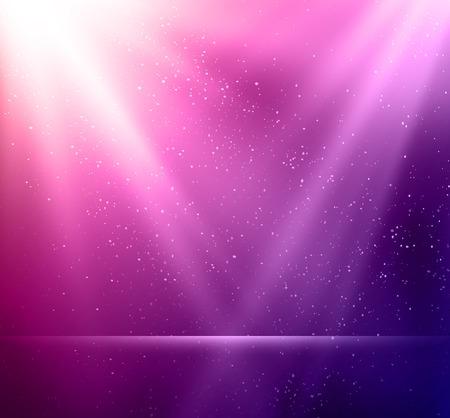 ベクトル図抽象マジック バイオレット ライトの背景