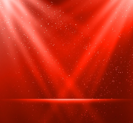 semaforo rosso: Illustrazione vettoriale magia sfondo rosso di luce