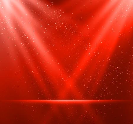 Ilustración vectorial Resumen magia de fondo de luz roja