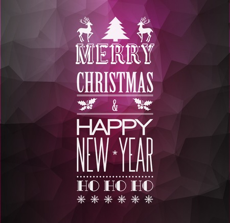message card: Vector  Abstract Christmas light background with retro typography