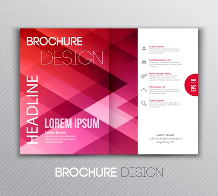 corporate brochure: Vector illustration Abstract template brochure design with geometric background Illustration