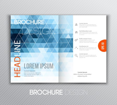 Vector illustration Abstract template brochure design with geometric background Ilustração