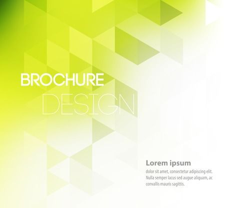 graphic print: Vector illustration Abstract template brochure design with geometric background Illustration