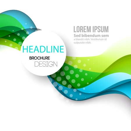 light color: Vector Abstract curved lines background. Template brochure design