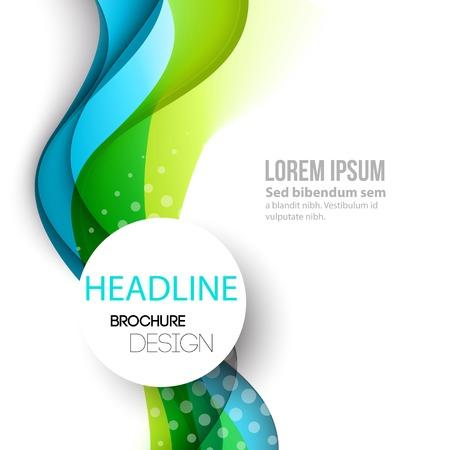 Grafik Abstract geschwungene Linien Hintergrund. Vorlage Broschüre Design